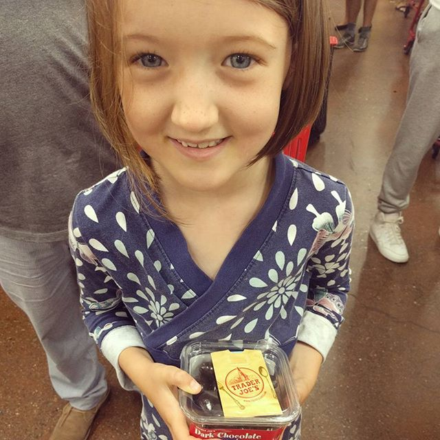 Clover won the coloring contest and received a gift card. She chose chocolate covered cherries.