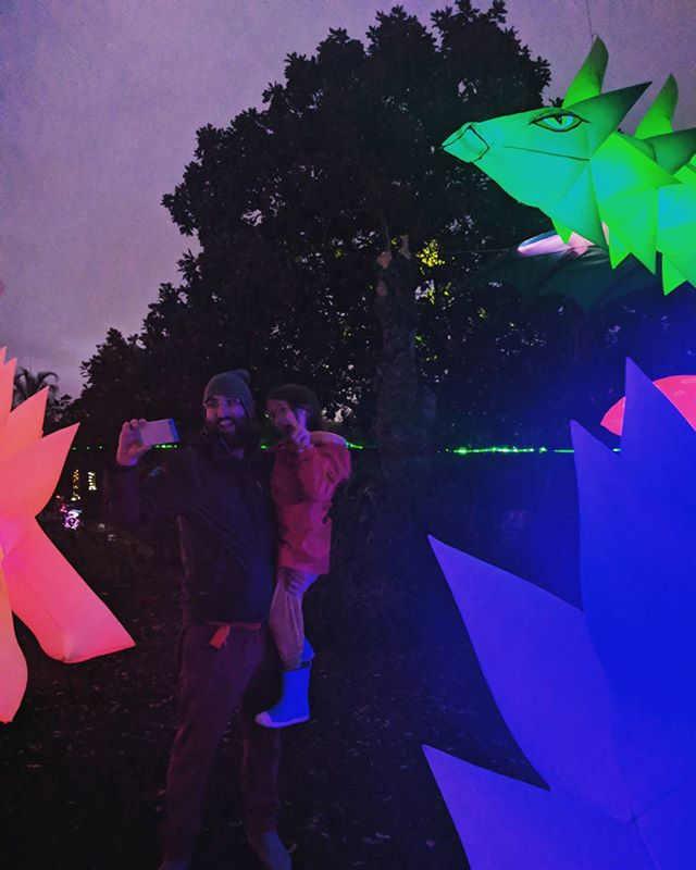 dragon selfie at the autumn lights festival