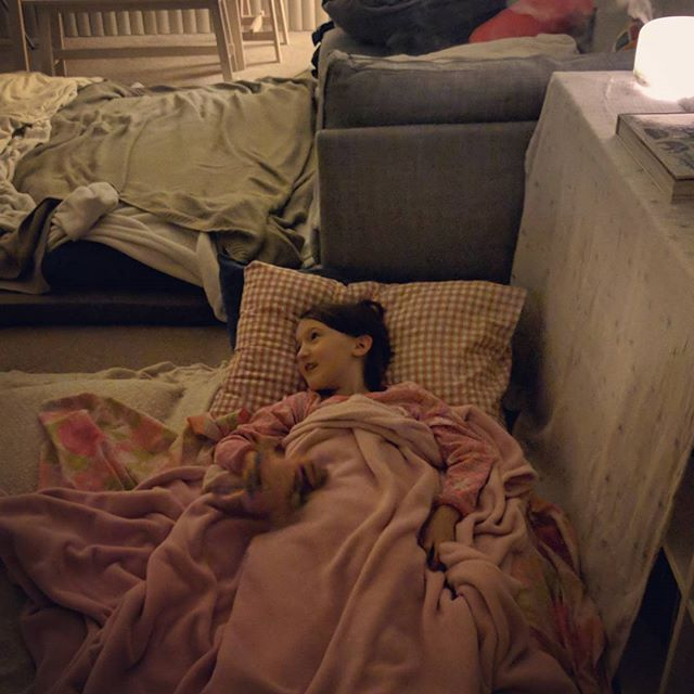 More leaks in the bedroom mean we are all sleeping in the living room tonight!  🌧️