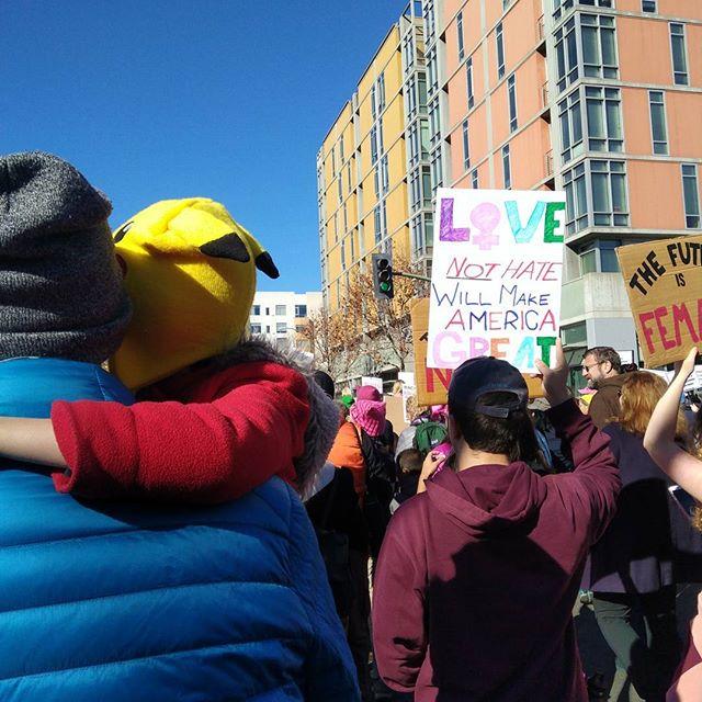 Love not Hate. Women's March, Oakland 2018