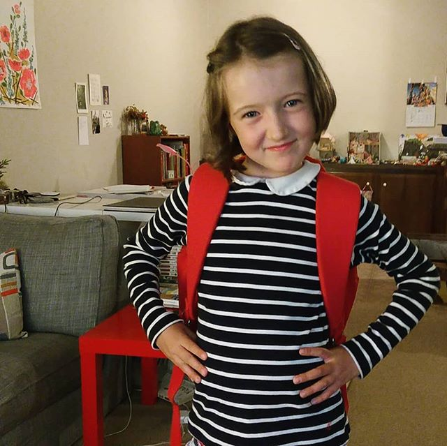 Going to try to sign her up for school tomorrow. She is excited and I am freaked out. :)