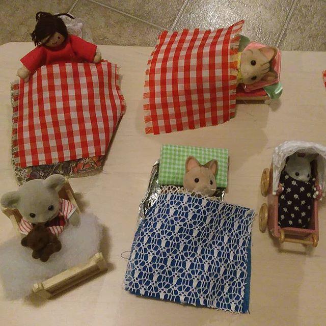 Emma's installation: beds