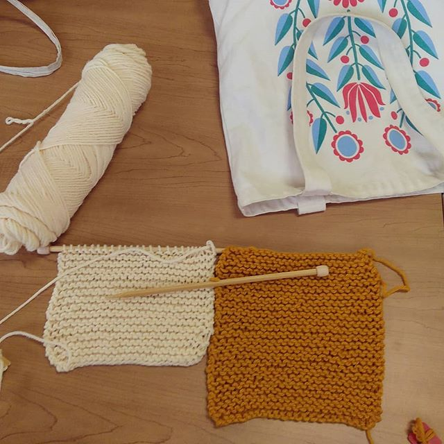 This is only the beginning but I am making a knitted blanket. :)